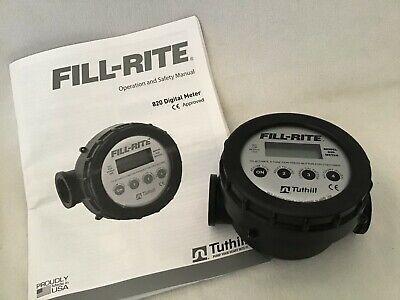 Fill-rite 820 Digital Nutating Disc Fuel Transfer Meter 1 2-20gpm 8-76 Lpm
