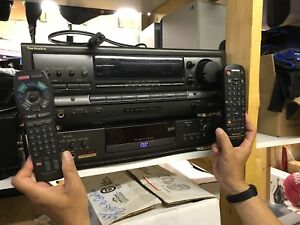 Technics 5.1 receiver and Panasonic DVD player