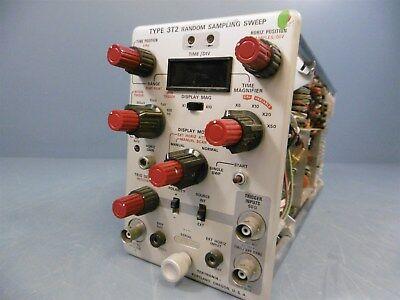Used Tektronix 3t2 Random Sampling Sweep Oscilloscope Plug In
