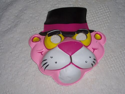 (M01) - Vintage - Adult Size Plastic Mask - Pink Panther - UNITED ARTISTS - 1981