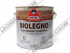 Boero biolegno 2 5 lt tinte cartella impregnante for Boero colori