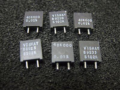 Lot Of 5 40k000 Vishay S102k Series Metal Foil Resistors 0.01 40k