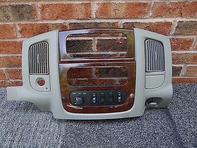 02 03 04 05 Dodge Ram 1500 2500 3500 Radio Center Dash Trim Bezel Tan Woodgrain