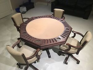 Poker Table & Chair Set