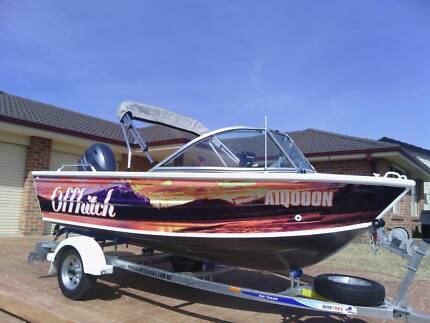 430 Quintrex fishabout,50 Hp, 4 Stroke Yamaha,12 months warranty.