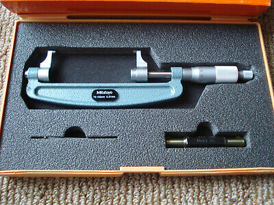 Mitutoyo 143-104 Metric 75-100 Mm Micrometer New In Box