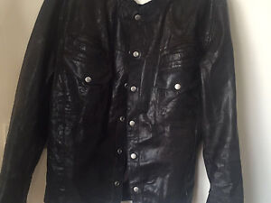 Dark brown all saints leather jacket XL South Yarra Stonnington Area Preview