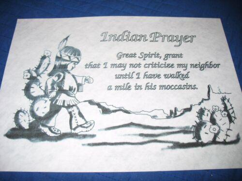 * TRI CHEM 7681 WARRIOR  PRAYER  GREAT SPIRIT Picture to paint TRICHEM