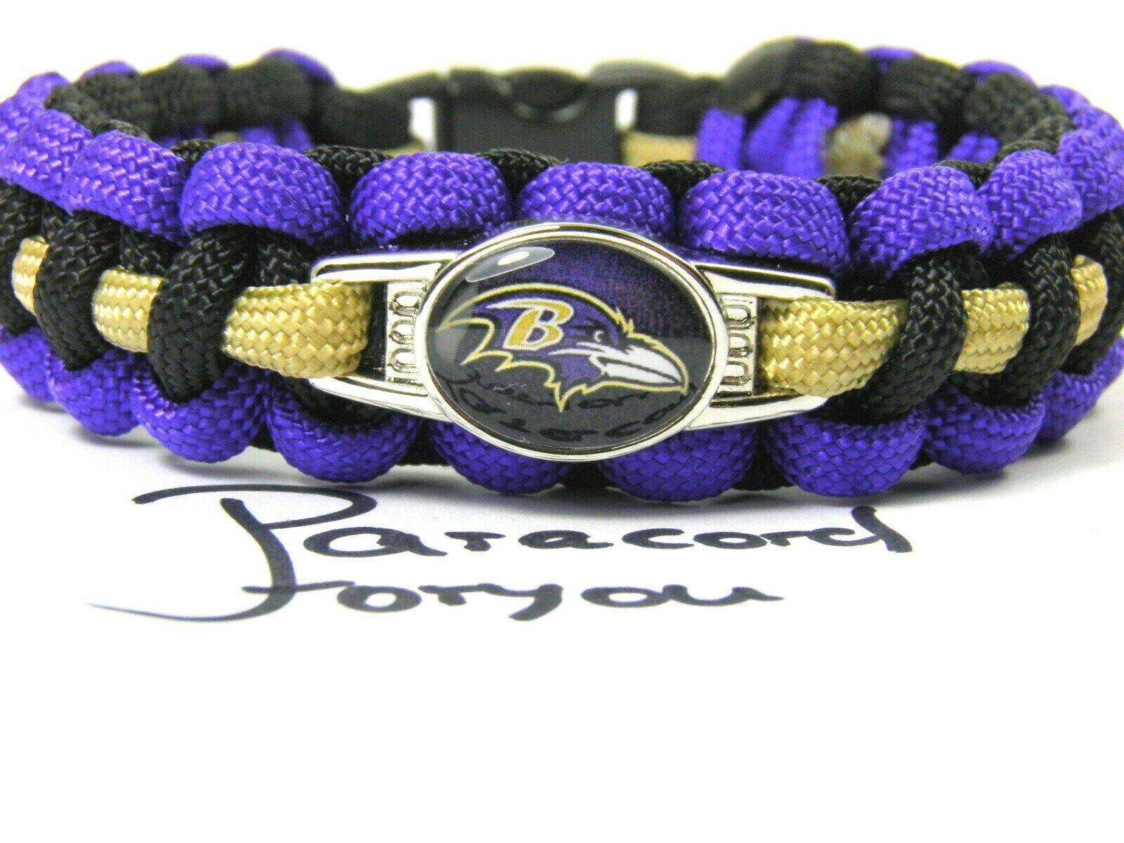 NFL Paracord Armband-Baltimore Ravens-2 Breiten-American Football