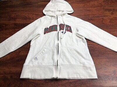 ANTIGUA Women's White MN Wild Hockey Full Zip up Hoodie Size Medium - Mn Wild Hoodie