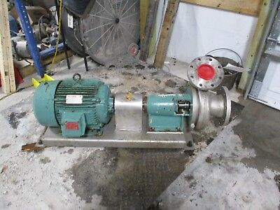 Triclover Stainless 4x6 Food Service Pump With Motor And Base1115223c New