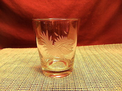 South Carolina Fighting Gamecocks Etched Double Old Fashioned Glass 4 3/8