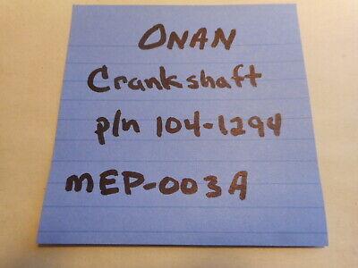 Onan Crankshaft Pn 104-1294 Mep-003a 10kw Military Diesel Generator