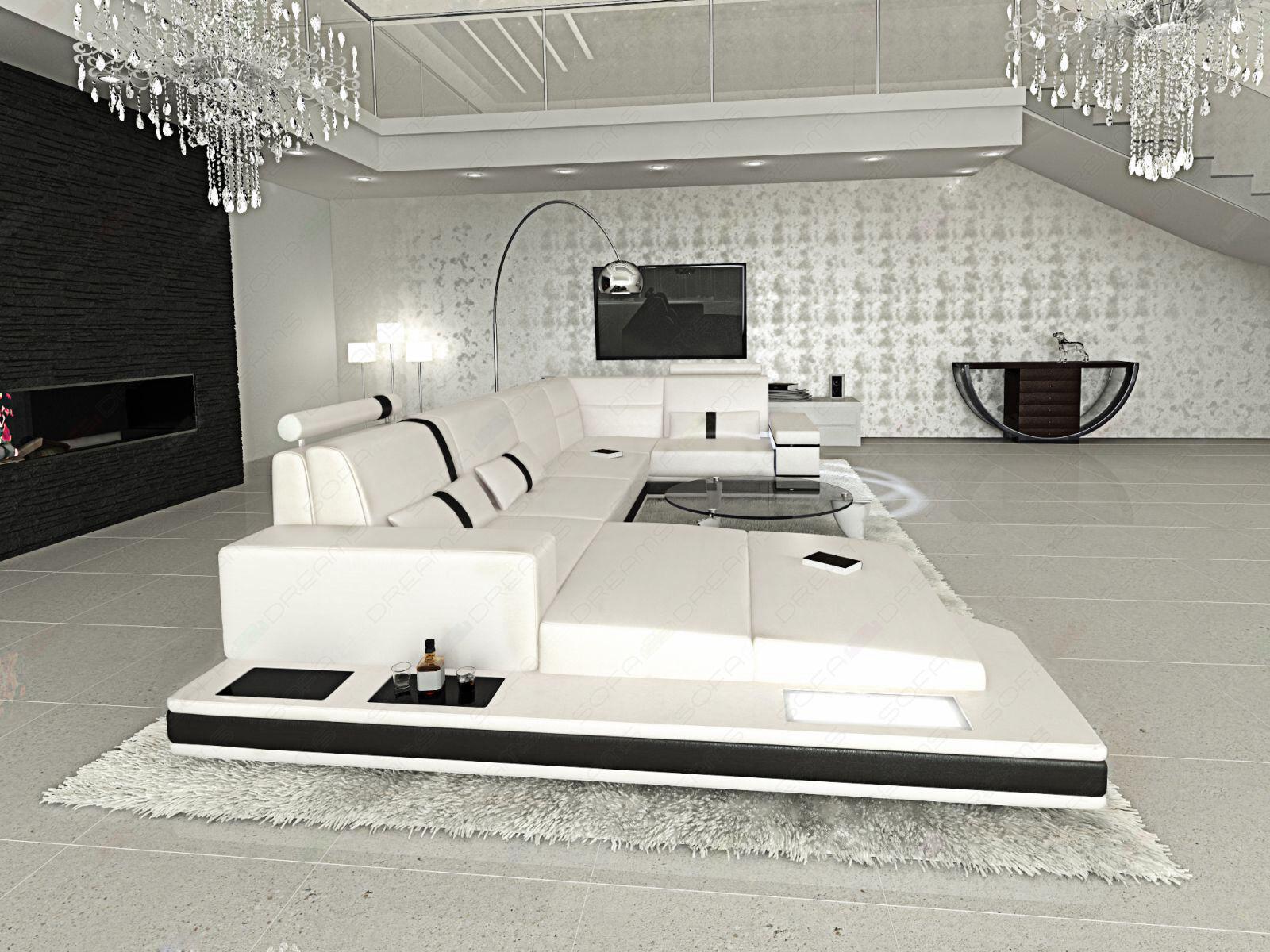 ledersofa messana designer sofa wohnlandschaft licht eur. Black Bedroom Furniture Sets. Home Design Ideas