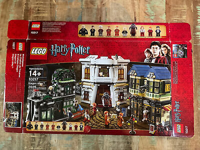 LEGO Harry Potter 10217 Diagon Alley with Box, Minifigures & Instructions