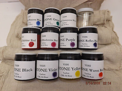 Pms Pantone Ink Kit Vanson Cml Oil Base For Letterpress Prinitng 3.2oz Ea. Of 11