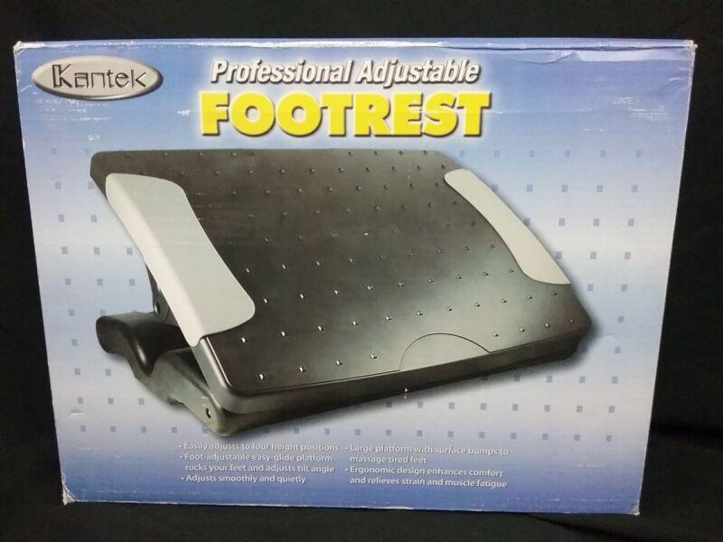 """Kantek Professional Adjustable Footrest 4-7"""" Height Black"""