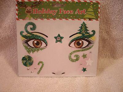Christmas  Sequin Face Art Temporary Tattoos - Christmas Tattoos