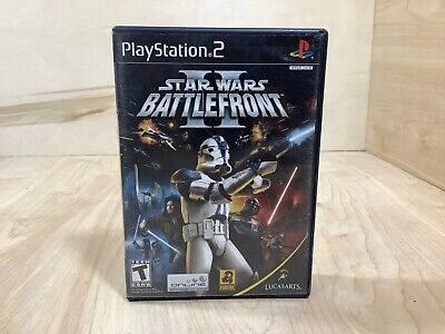 Star Wars: Battlefront II (PlayStation 2, 2005) Complete with Manual Works Great
