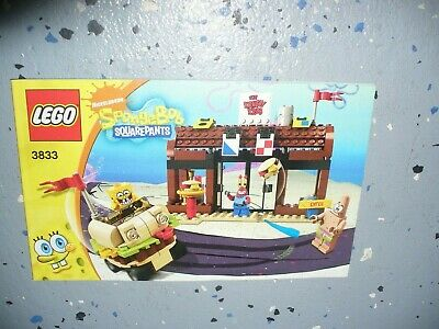 Lego Instruction Book - Spongebob Squarepants - Krusty Krab Adventures # 3833