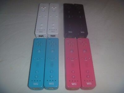 Official Nintendo Wii & U Remote Controller WiiMote Set Lot Of 2 Pick Your Color