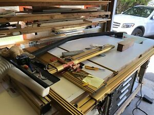 Professional table saw with dual routers tables and Incra Fence