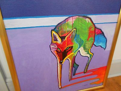 "John Nieto Original Acrylic Painting   ""COYOTE""  Framed"