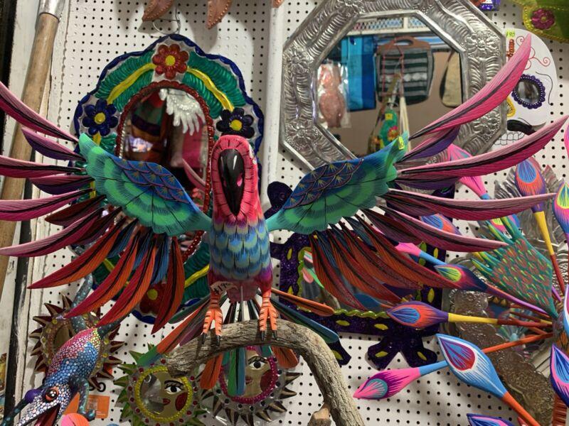 BIRD ART -alebrije Mexican (Oaxaca)Perico