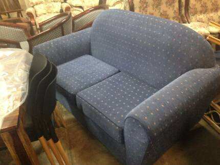 2 seater blue lounge / sofa / couch.