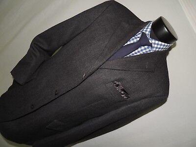 Mens 3 Button side Vents Gray Ermenegildo Zegna cloth Hugo Boss jacket coat 42 R ()