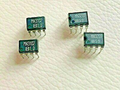 2 Pairs Mn3102 Mn3207 Clock Generatordriver Ic Panasonic Dip-8
