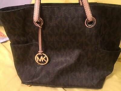 michael kors brown signature handbag