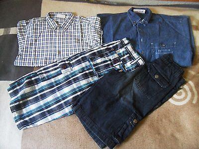 4 tlg Sommer Paket Jungen Gr. 152/158 2x kurze Hose 2x Hemd Kinder