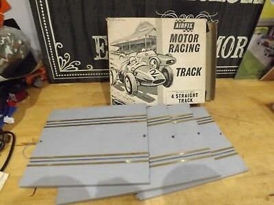 VINTAGE AIRFIX MOTOR RACING ACCESSORY PACK 4 STRAIGHT TRACK BOXED 5030