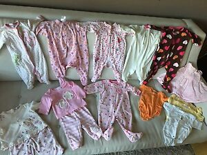 Lot of baby girl clothes 3-6 months