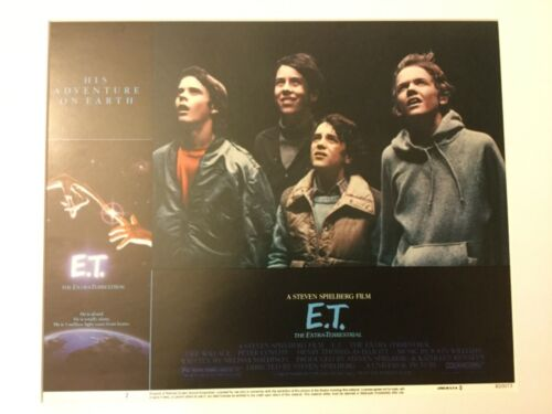 E. T. ORIGINAL ET 11X14 LOBBY CARD SET OF 8 1982 STEVEN SPEILBERG MATTED VINTAGE