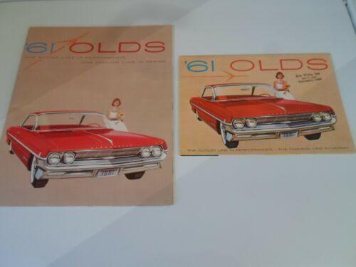 Oldsmobile Dealer  Brochure +  Oldsmobile Models 1961  Rare Set of (2)