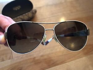 "White ""Kristina"" women's Coach sunglasses"
