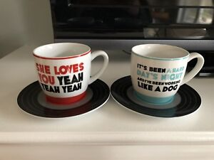Beatles collectible cup and saucers