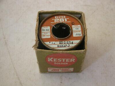Vintage Kester 281 Resin Core Solder