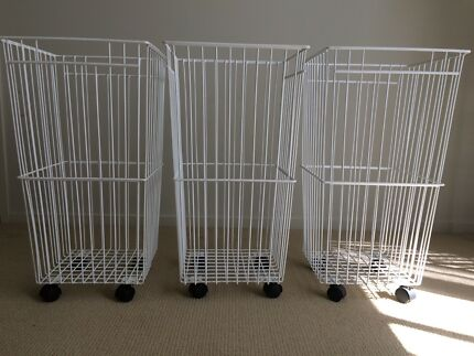 MUST GO! $30 for 3 x Roll-Away Laundry Baskets!