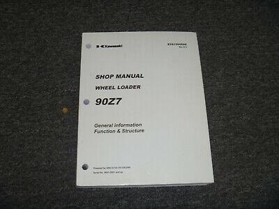 Kawasaki 90z7 Wheel Loader Funct Struct Shop Service Repair Manual 90h1-5001-