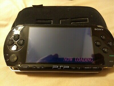 SONY PLAYSTATION PORTABLE PSP 1001 Console Black with Battery, Charger, Memory
