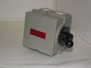 Electric motor Reversing Switch single or 3 phase 32amp 4 Pole Lathe car lift