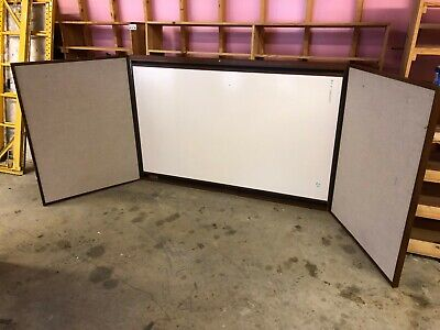 Large 12 X 4 Folding Presentation Board Dry Erase White Board Projector Screen