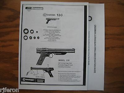 Crosman Crossman 130 137 Pistol Reseal Seal Repair Kit - Owner's Manual & Guide