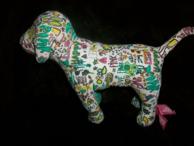 VICTORIA SECRET PINK DOG GRAFFITTI LOVE HAPPY SWEET FREE SHIPPING