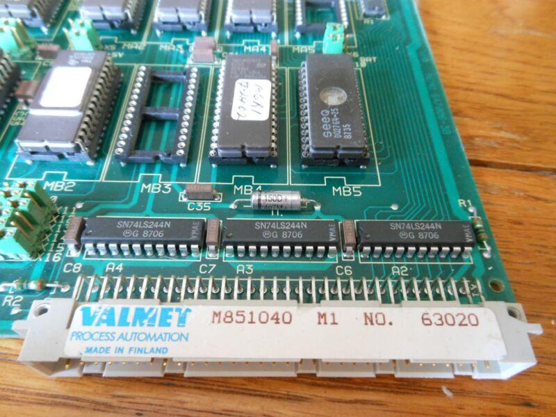 Valmet Process Automation M851040 MEMU RAM memory    Metso 63020