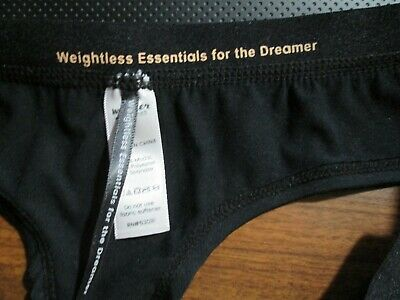 New Wander Weightless Essentials for the Dreamer ~ Hottotties Size L Black Thong