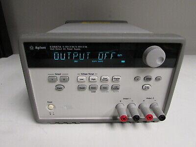 Agilent E3647a 60w Dual Output Power Supply Two 35v .8a Or 60v 0.5a